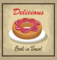 icon donuts design isolated vector image vector image