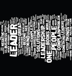 lead by example text background word cloud concept vector image vector image