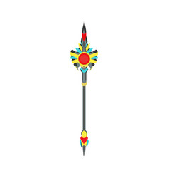scepter crown king royal isolated cartoon power vector image vector image