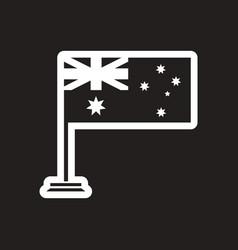 Stylish black and white icon flag of australia vector