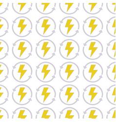 energy hazard symbol with arrows around background vector image