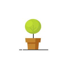 houseplant icon flat cartoon green plant vector image