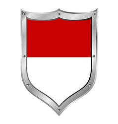 Monaco flag button vector image