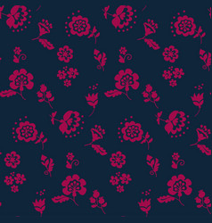 simple floral decorative seamless pattern inspired vector image