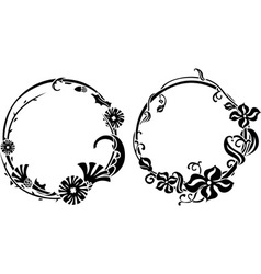 Two black wreath vector image