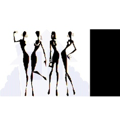 womens team vector image