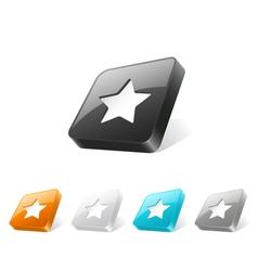 Button3dStar 01 vector image vector image