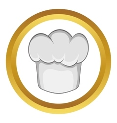 Chef hat icon vector image vector image
