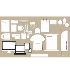 Corporate identity template design vector image