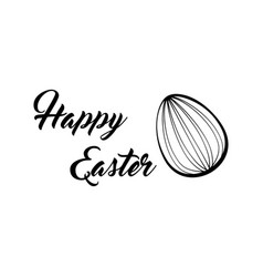 happy easter lettering easter egg vector image vector image