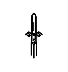 black icon on white background ancient weapon vector image