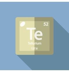 Chemical element Tellurium Flat vector image vector image