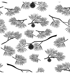 Pine branch seamless background vector