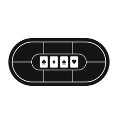 Poker table black simple icon vector image