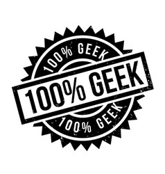 100 geek rubber stamp vector