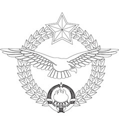 Airforce insignia former yugoslavia vector