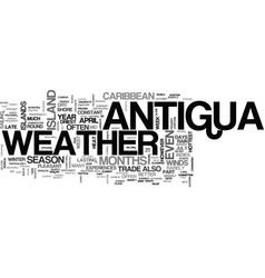 Antigua villa rentals text word cloud concept vector