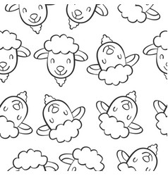 Art animal head doodles vector