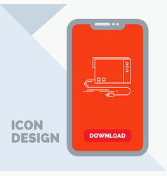 Audio card external interface sound line icon in vector
