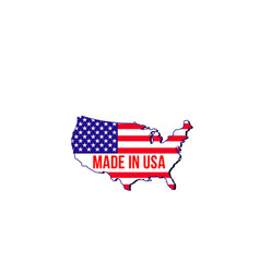 badge made in usa vector image