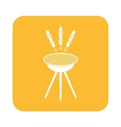 Barbecue kebab icon vector