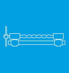Blacksmiths clamp icon outline vector