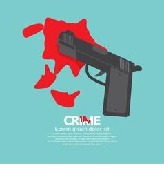 Bloody Gun Criminal Concept vector image