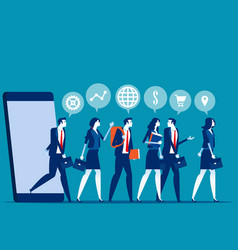 business people group and analysis program vector image