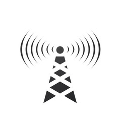 cell phone tower with waves electric tower pole vector image