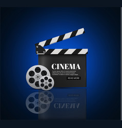 cinema background with movieblue background with vector image