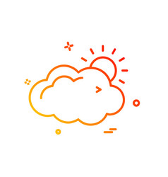 cloud icon design vector image