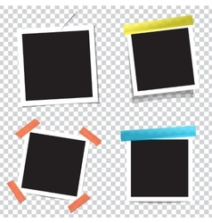 Collection of blank photo frames with vector