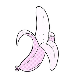 Comic cartoon pink banana vector