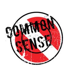 Common sense rubber stamp vector