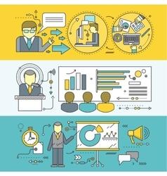 Concept of master class seminar presentation vector
