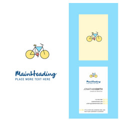 cycle creative logo and business card vertical vector image