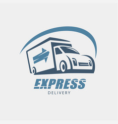Delivery and shipping service logo template vector