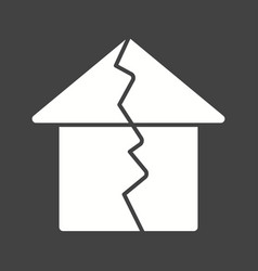 Earthquake hitting house vector