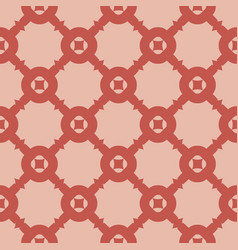 elegant geometric seamless pattern with grid net vector image