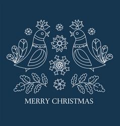 ethno christmas new year decorative folk vector image