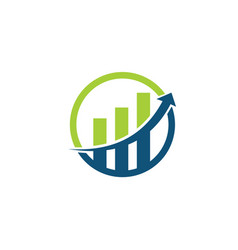 financial consulting logo template vector image