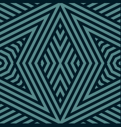 geometric lines seamless pattern black and teal vector image