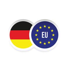germany european union badge vector image