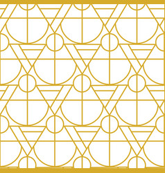 Gold geometric seamless pattern vector