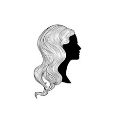 hairstyle beauty salon banner woman with vector image