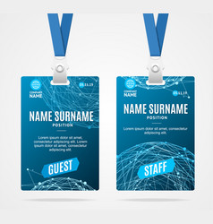 Event Badge Pass Template Vector Images Over - Event badge template