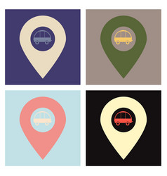 Location icon navigation map gps flat style for vector