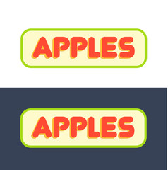 Logos for market with fruits and grocer store vector