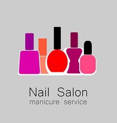 nail salon logo vector image