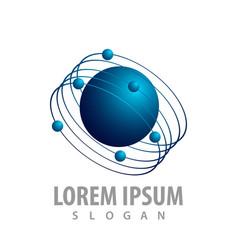 orbit planet logo concept design symbol graphic vector image